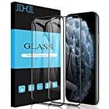 JDHDL iPhone 11 Pro Max Screen Protector Tempered Glass, Full Coverage Clear Anti-Shatter Scratch proof 9H Tempered Glass for iPhone 11 Pro Max & iPhone Xs Max [2-Pack]