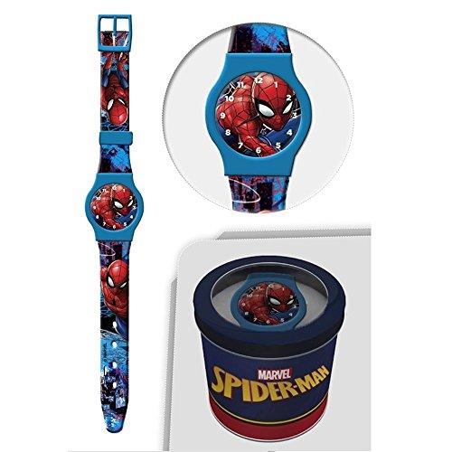 Star Licensing Orologio Spiderman Marvel da Polso ANALOGICO CONF. CM 24 - 50580CELESTE