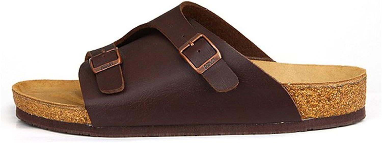 DILN UNbox Mens Slip-On Clog Footbed Sandals Adjustable Beach Slipper
