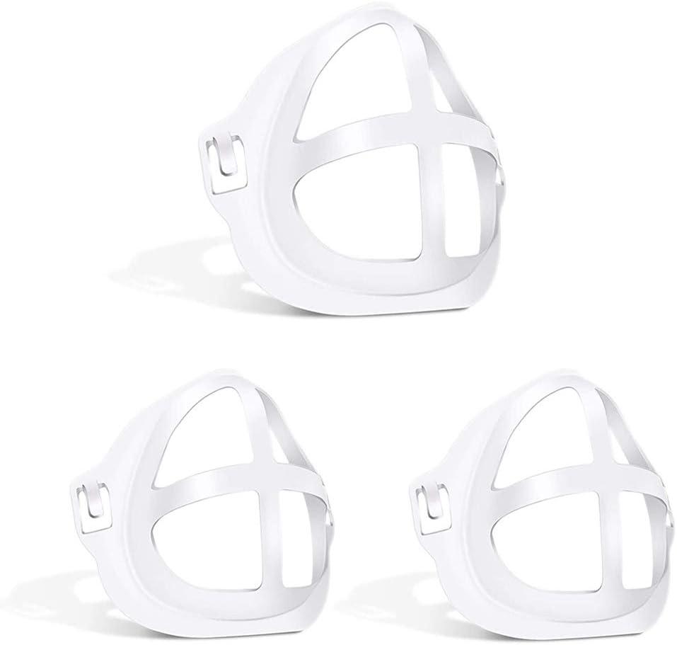 Cadre de Support de Masque 3D Cadre de Support de Visage 3D r/éutilisable pour Rouge /à l/èvres Support de Protection respiratoire Supports 10pcs Support de Masque 3D