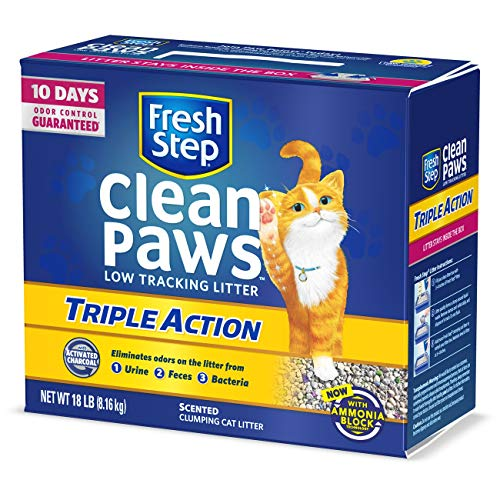 Fresh Step Clean Paws Triple Action Scented Litter, Clumping Cat Litter, 18 Pounds