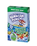Hawaiian Punch Singles To Go Powder Packets, Water Drink Mix, Green Berry Rush, 96 Single Servings (Pack of 12) - ORIGINAL FLAVOR, 0.73 Ounce (Pack of 12)