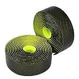 VGEBY1 Cinta del Manillar de la Bici, Banda de absorción antirresbaladiza de la absorción del Sudor de los manillares Dobles de la Capa Doble de los Colores(Verde)