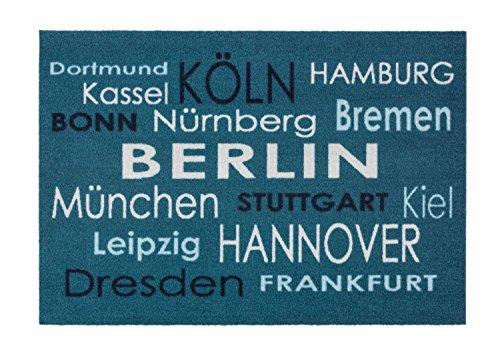 Bavaria Home Style Collection - Fussmatte - Schuhabtreter - Abstreifer - Städte - blau - ca 50 x 70 cm