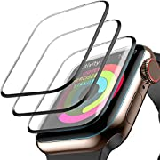 [3 Pack] Screen Protector for Apple Watch Series 4 44mm, Max Coverage Screen Protector HD Clear Anti-Bubble