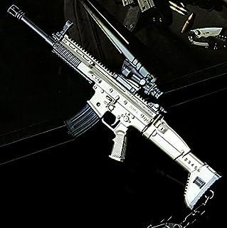 "CHGOO Scar-L Games Eat Chicken 6.4"" Mini Metal Kar98k Gun Rifle Model Figure Arts Toys Collection Keychains Gift"