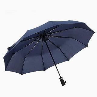ETH Windproof Travel Folding Umbrella Golf Umbrella Automatic Opening & Closing, Light Weight, 10 Ribs Weatherproof Shed Elegant