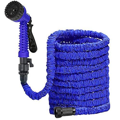 YYM Tubo de Manguera de Agua de jardín expandible 3 Veces de expansión Tubo de Manguera liviano Flexible de 25 pies con Pistola de pulverización de 8 Funciones para Lavar el 0908YYM