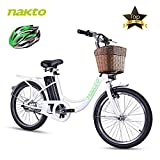 NAKTO City Electric Bike for Adults Women Ebike with 36V10A Lithium Battery