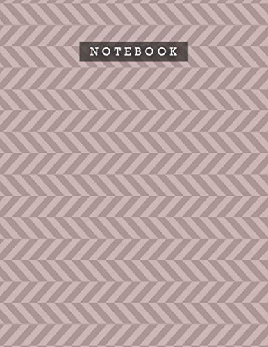 Notebook Rosy Brown Color Foxes Zigzac Diagonal Stripes Patterns Cover Lined Journal: Meal, A4, Planning, 21.59 x 27.94 cm, 110