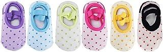 Heall, 6 Pares Calcetines Socks Antideslizantes Niñas Niños Bebe Tobilleros de Colores Original
