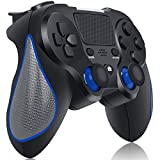 [2020 New Version] Wireless Controller for Playstation 4/Pro/Slim/PC, RegeMoudal Wireless Gamepad for PS4 Built-in Rechargeable 600mAh Battery Joystick, Support Double Vibration and Touch Pad