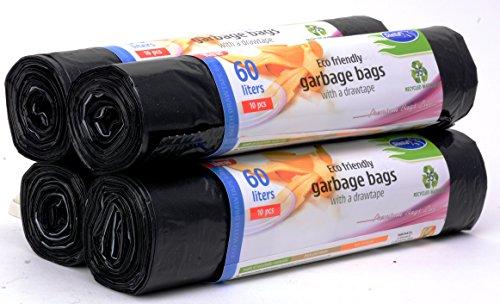 Sacchetti di immondizia profumati Profumo di lavanda super forte Sacchi per la spazzatura Stella Premium Bags Line 4 x 15 sacchetti 35 litri 3 strati