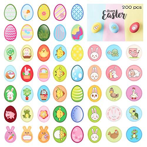 ZERHOK Pegatinas Conejo Pascua, 8 hojas Pegatinas Huevos Pascua Etiqueta Engomada Decoración...