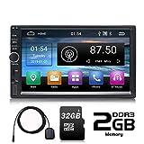Panlelo S1 Plus Android 9.0 2 DIN Android Autoradio 64 GB de Memoria 7 Pulgadas Pantalla táctil Navegación GPS Am FM RDS Quad Core 2GB RAM 32 GB ROM 32 GB Tarjeta SD Wi-Fi BT