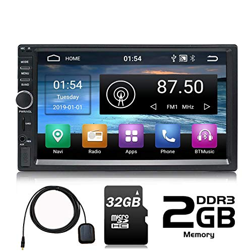 Panlelo PA09YZ32, In Dash 2 DIN 7 Pulgadas Completo HD Pantalla Táxil Head Unit Android 6.0 Navegación GPS Estéreo de Coche Quad Core 16GB + 32GB Flash Bluetooth Am/FM/RDS Wi-Fi