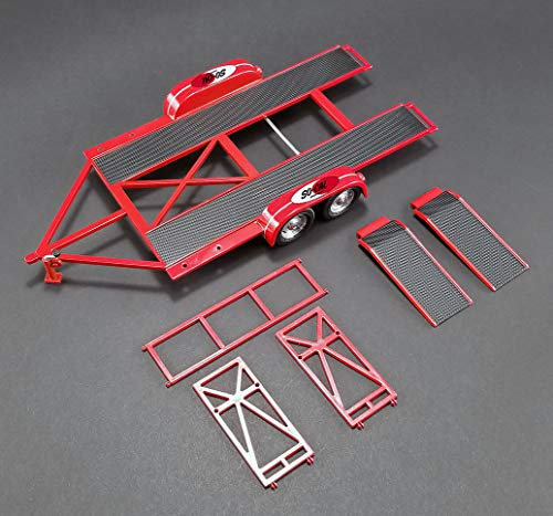 Tandem Car Trailer with Tire Rack So-Cal Speed Shop Red Limited Edition to 996 Pieces Worldwide 1/18 Diecast Model by GMP 18907