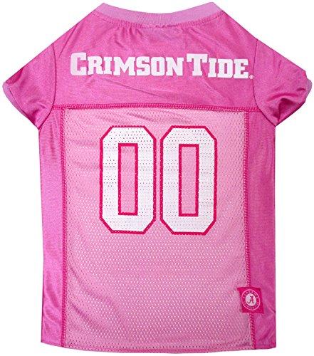Pets First Collegiate Alabama Crimson Tide Dog Jersey, Large, Pink