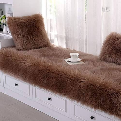 ZTMN Long Plush Erker vensterbank bekleding mat kussens, drijvende raambekleding van zacht fluweel sofa hoes kussen anti-slip mat Tatami voetmatten -G 60x210cm (24x83inch)