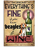 Póster de Beagle Everythings con texto en inglés 'Fine Gifts for Lovers' 24''X36''