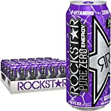 Rockstar Energy Drink Pure Zero, Grape, 24 Count