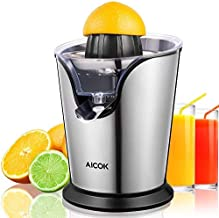 Orange Juice Maker, Aicok Orange Juicer Electric Squeezer, Stainless Steel Citrus Juicer with 100W Ultra Quiet Motor, 2 Si...