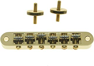 Dopro Gold Guitar Roller Saddle Bridge Tune-O-Matic Bridge For Gibson Les Paul,SG,ES Dot,Gretsch Bigsby T-O-M with M4 Posts