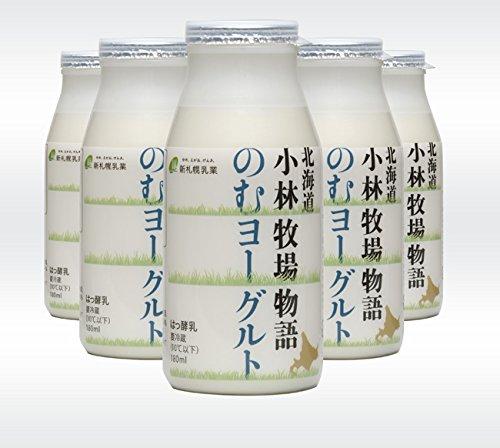 のむヨーグルト 180g×6本入 (北海道小林牧場物語) 北海道こばやしぼくじょうの生乳のみ使用