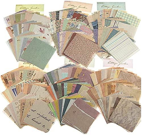 Papel Scrapbooking Vintage,6 Estilos 360 Hojas,Papel Decorativo Scrapbooking,Impresión a una cara,Scrapbooking de DIY Decoración Álbumes de Recortes Calendarios Tarjetas Sobres Regalos