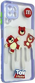 Back Cover 3D Cartoon Bear Toys For Samsung Galaxy A22 4G - Purple