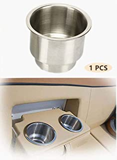 """FCOUIID Marine RV Camper Boat Stainless Steel Cup Holder Drink Mount with Drain, Outer Diameter OD: 4 1/4"""" OD, Height 4"""",I..."""