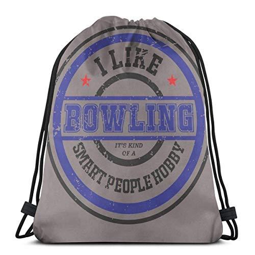 DJNGN Me Gusta Bowling Strike Split Spare Hobbies Bolsa con