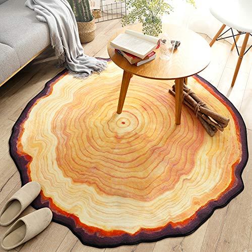 Fancytan - Tappeto rotondo con anello annuale per soggiorno, camera da letto, cuscino per tavolino da caffè, 120 cm