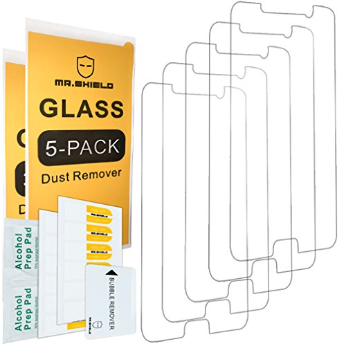 [5-Pack] - Mr.Shield for Samsung Galaxy Note 5 [Tempered Glass] Screen Protector [0.3mm Ultra Thin 9H Hardness 2.5D Round Edge] with Lifetime Replacement