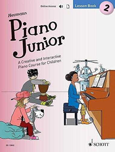 Piano Junior: Lesson Book 2: A Creative and Interactive Piano Course for Children. Vol. 2. Klavier. Ausgabe mit verschiedenen Online-Materialien. (Piano Junior - englische Ausgabe)
