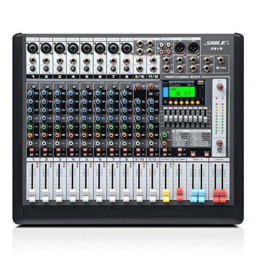Learn More About DJ Controller 12-Channel Power Mixer With Bluetooth Equipment Conference Pre-level ...