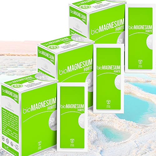 Magnesium Citrate 500 mg | 100% Natural Dead SEA Food Supplement | Energy Boost | for Muscles and Cramps | for Tiredness and Fatigue| 100% Vegan | Premium – 20 sachets | Pack of 3