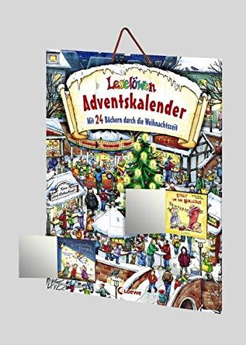 Leselöwen - Adventskalender: Mit 24 Büchern durch die Weihnachtszeit - Adventskalender mit 24 Erstlesegeschichten