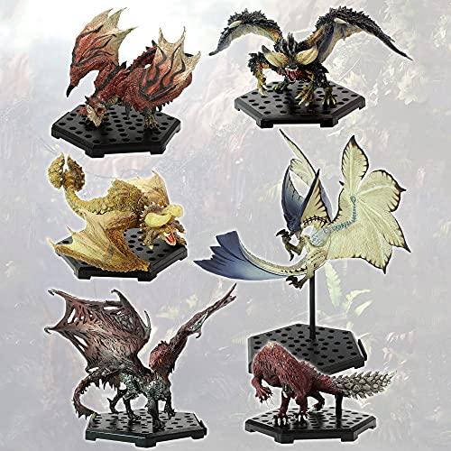 Yukichi 6pcs Monster Hunter Figures Rathalos Diablos Legiana Nergigante Glavenus PVC Game Statue