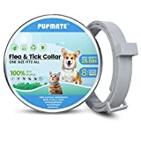 PUPMATE Collar for Dogs & Cats,8-Month Prevention, Waterproof, 100% Natural Ingredient