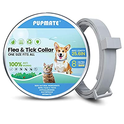 PUPMATE Collar for Dogs  Cats,8-Month Preventio...