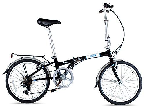 Ford by Dahon Taurus 2.0 7-Speed Folding Bicycle, Black, 11' x 20'