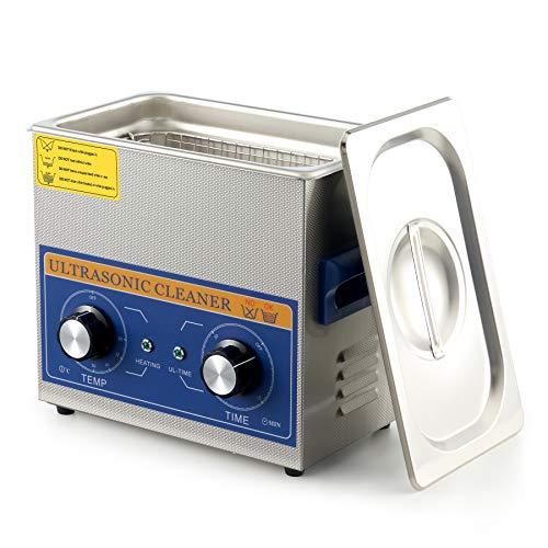 CO-Z 3.2L 120W Limpiador Ultrasónico Profesional con Calentador y Temporizador Limpiador de Ultrasonidos de Acero Inoxidable Máquina de Limpieza Ultrasónica para Joyas, Reloj y Gafas (3.2L)