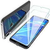 Teayoha Clear Case for Huawei Y7 2019, with Tempered Glass