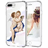 MOSNOVO iPhone 8 Plus Case, iPhone 7 Plus Case, Angel Love Clear Design Printed Transparent Hard Back Case with TPU Bumper Protective Case Cover for iPhone 7 Plus/iPhone 8 Plus
