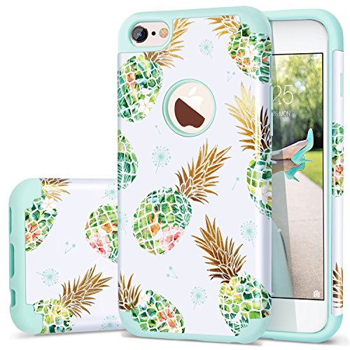 Fingic iPhone 6s Case, iPhone 6 Case Pineapple, Shiny Slim Pineapple Design Summer Case Hard PC Soft Rubber Anti-Scratch Shock Proof Protective Case Cover for iPhone 6/6s 4.7',Green