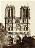 Foto von Frankreich Notre Dame de Paris Vintage Reiseplakat