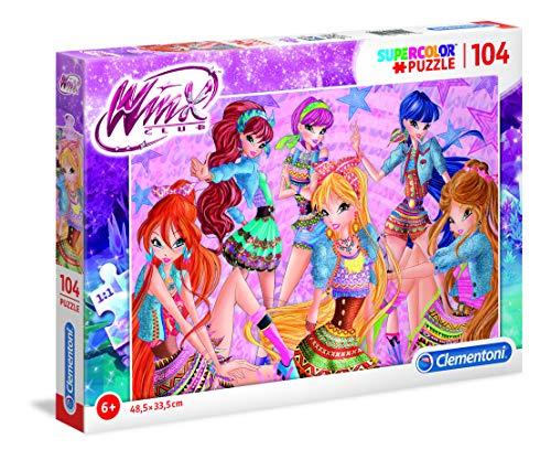 Clementoni- Supercolor Puzzle Winx, Multicolore, 27112