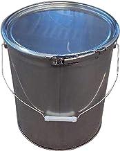 ペール缶 20Lステンレス製 オープンドラム缶(蓋・外レバーバンド付)d19a