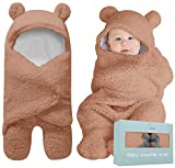BlueMello Baby Swaddle Blanket   Ultra-Soft Plush Essential for Infants 0-6 Months   Receiving Swaddling Wrap Brown   Ideal Newborn Registry and Toddler Boy Accessories   Perfect Baby Girl Shower Gift